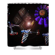 Wagon Train To The Stars Shower Curtain