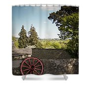 Wagon Wheel County Clare Ireland Shower Curtain