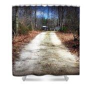 Wagon Wheel Lane Shower Curtain