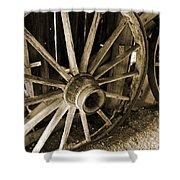 Wagon Wheels 3 Shower Curtain