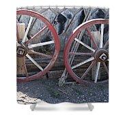 Wagon Wheels. Shower Curtain