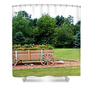 Wagon With Flowers Shower Curtain