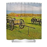 Wagons Used In The Civil War In Gettysburg National Military Park-pennsylvania Shower Curtain