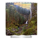 Wahclella Falls In Columbia River Gorge Shower Curtain