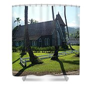Wai Oli Hui Ia Church Shower Curtain