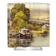 Waiakea Vintage Art Shower Curtain