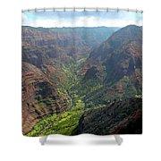 Waiamea Canyon Kauai Shower Curtain