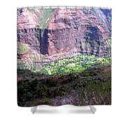 Waiamea Canyon Walls Shower Curtain