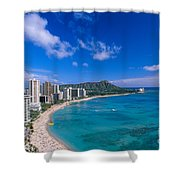 Waikiki And Diamond Head Shower Curtain