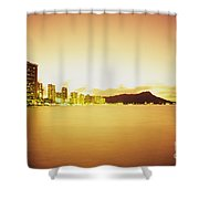 Waikiki At Sunset Shower Curtain