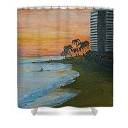 Waikiki Beach Shower Curtain