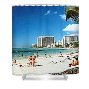 Waikiki Beach Shower Curtain