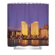 Waikiki Skyline Shower Curtain