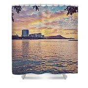 Waikiki Sunrise Shower Curtain