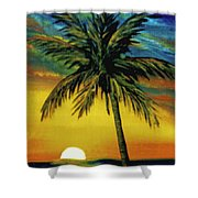 Waikiki Sunset #38 Shower Curtain