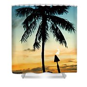 Waikiki Sunset Shower Curtain