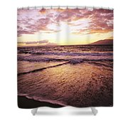 Wailea Beach At Sunset Shower Curtain