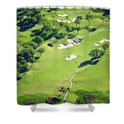 Wailea Gold And Emerald Courses Shower Curtain by Ron Dahlquist - Printscapes