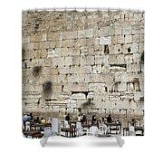 Wailing Wall In Jerusalem Shower Curtain