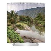 Wailoa Stream Shower Curtain