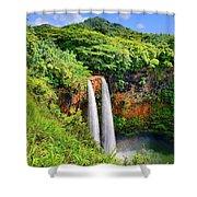 Wailua Falls Kauai Shower Curtain
