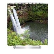Wailua Falls, Kauai Shower Curtain