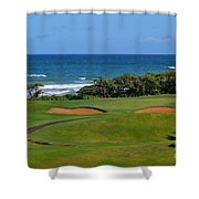 Wailua Golf Course - Hole 17 - 1 Shower Curtain