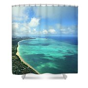 Waimanalo Bay Shower Curtain