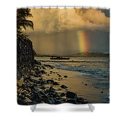 Waimanalo Rainbow Shower Curtain