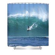 Waimea Bay Boomer Shower Curtain by Kevin Smith