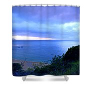 Waimea Bay Evening Shower Curtain