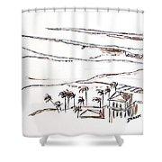 Waimea Bay Morning View Shower Curtain