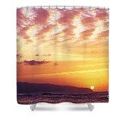 Waimea Bay Sunset Shower Curtain by Bob Abraham - Printscapes