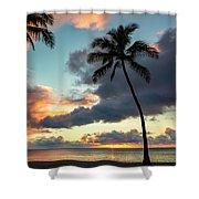 Waimea Beach Sunset 3 - Oahu Hawaii Shower Curtain
