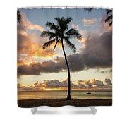 Waimea Beach Sunset - Oahu Hawaii Shower Curtain