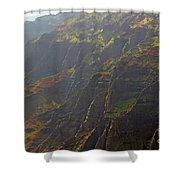 Waimea Canyon On A Misty Day In Kauai Shower Curtain