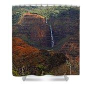 Waimea Canyon Waterfall Shower Curtain