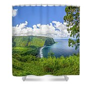 Waipi'o Valley Shower Curtain