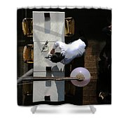 Waiter From Above Shower Curtain