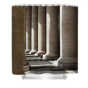 Waiting At St Peter's Shower Curtain by Julian Perry