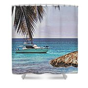 Waiting Boat Shower Curtain