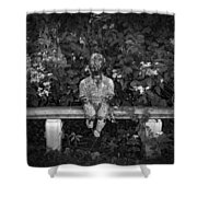 Waiting By The Garden Shower Curtain