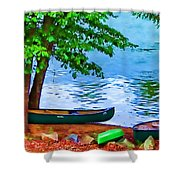 Waiting By The River Shower Curtain