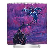 Waiting Flower Shower Curtain