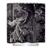 Waiting For Alexander - Heroes And Gods - Violet  Shower Curtain