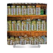 Waiting For Canning Time Shower Curtain
