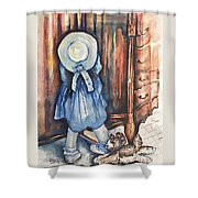 Waiting For Redemption Shower Curtain
