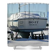 Waiting For Summer To Just Do-it  Shower Curtain