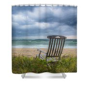 Waiting For Sunrise On The Dunes Shower Curtain