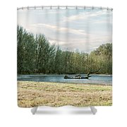 Waiting For The Birds Shower Curtain